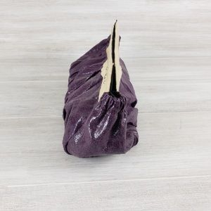 Miche Violet Purple and Cream Clutch Or Wallet